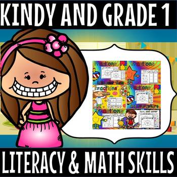 Kindergarten and grade 1 literacy and math skills set 1
