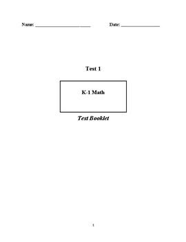 Kindergarten test for Quarter 1
