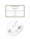 Kindergarten through Fifh Grade Art Workbook