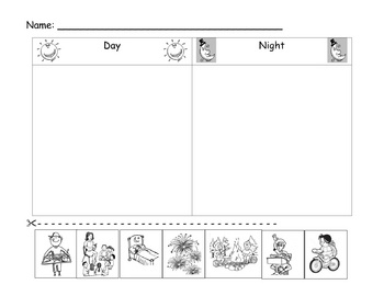 Kindergarten time assessment/worksheet