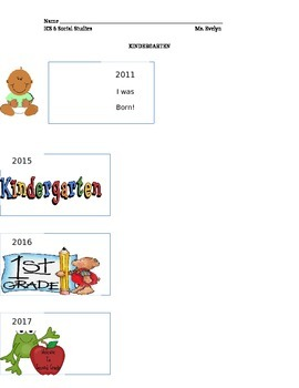 Kindergarten timeline