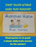 Kindergarten to 1st Summer Packet