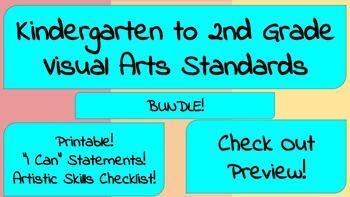 Kindergarten to 2nd Grade Visual Arts Standards