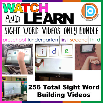K-3 Sight Word Videos Bundle for Differentiation and Intervention | Videos Only