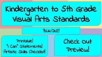 Kindergarten to 5th Grade Visual Arts Standards