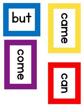 Kindergarten to First Grade K-1 Word Wall - Multicolor