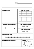 Kindergarten to Year 2 - Maths Problem solving Template
