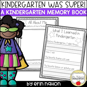 Kindergarten was Super! {an end-of-the-year memory book}