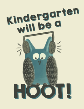 Kindergarten will be a hoot! - Owl Theme Treat Bag Labels - Open House