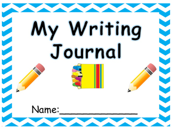 Kindergarten writing journal WITH PROMPTS!