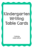 Kindergarten writing table cards