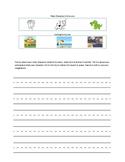 Kindergarten writing with setting