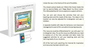Kindergarten, Year 1, Year 2 - Sea Themed Cross Curricular (Bundle)