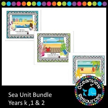 Ocean life-sea and Animal unit for infants grades (bundle)
