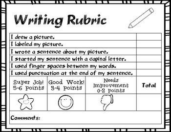 Kindergarten/First Grade Writing Rubric