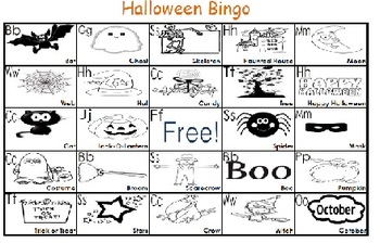 Kindergarten/Pre K Halloween Bingo