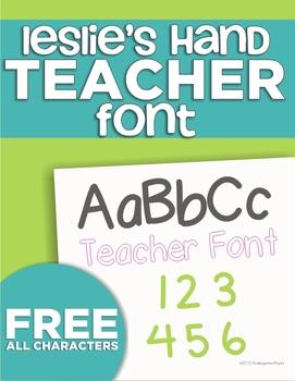 KindergartenWorks Font {Leslie's Hand}