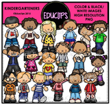 Kindergarteners Clip Art Bundle {Educlips Clipart}