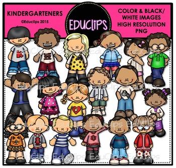 Kindergarteners Clip Art Bundle {Educlips Clipart}