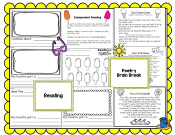 Kindergarten Sub Plans (June)