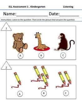 Kindergraten ESL Measure of Student Learning Exam