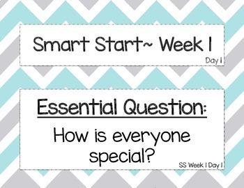 Kindergrten McGraw Hill Wonders Focus Wall (Smart Start Week 1-3 Bundle)