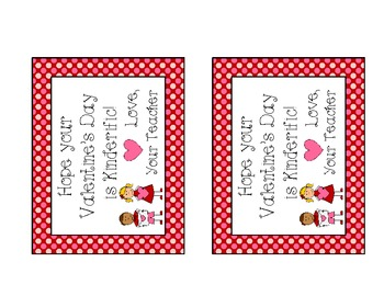 Kinderific Valentine Card from Your Teacher