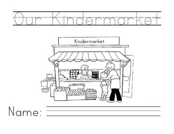 Kindermarket: Learning to Read in Kindergarten Through Env