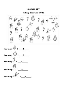 Kindergarten Christmas Math for Common Core
