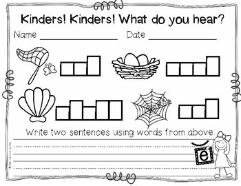 Kinders! Kinders! What Do You Hear? Short Vowel Sounds