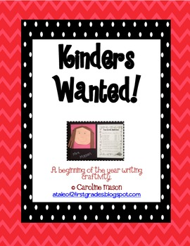 Kinders Wanted: A Back to School Bulletin Board Freebie