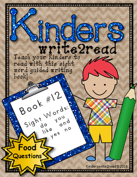 Kinderswrite2read Book 12 Food Questions
