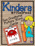 Kinderswrite2read Book Ocean Creatures Picture-Word Cards