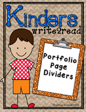 Kinderswrite2read Portfolio Divider Pages