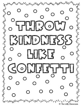 Kindness Coloring Pages Worksheets Teaching Resources Tpt