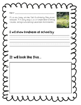 """Empathy and Kindness Lesson Plan - """"Each Kindness"""""""