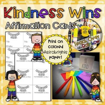 Kindess Wins Affirmation Cards