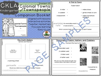 Kindie GRADE LEVEL LICENSE: CKLA Kindie Colonial Towns and Townsfolk Domain 10