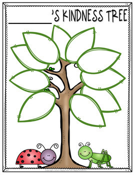 Kindness Tree w/ Leaves to write Conpliments: Kindness Week Activity or Anytime!