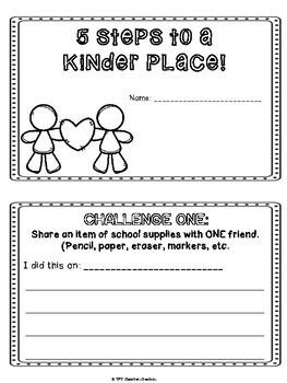 Kindness 5 day Challenge- Mini Book