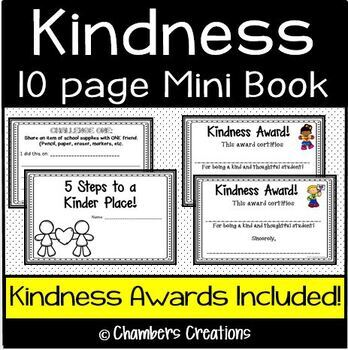 Kindness 5 day Challenge- Mini Book