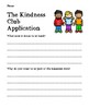 Kindness Activities (Bullying Unit 1)