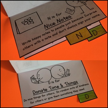 Kindness Activities - Flipbook and Bookmarks