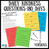 Kindness Activities: Question of the Day for SEL Curriculum