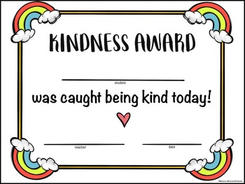 Kindness Activities with Writing Prompts