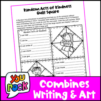 Kindness Activity: Kindness Writing Prompts Quilt: Random Acts of Kindness