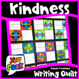 Kindness Activity: Writing Prompts Quilt for a Bulletin Board Display