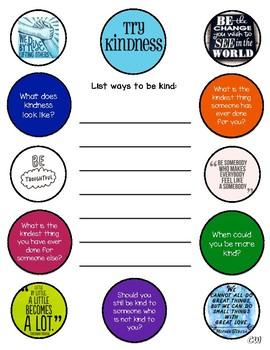 Kindness Activity/Worksheet