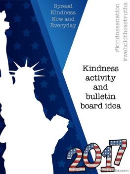 Kindness Activity & Bulletin Board Templates #kindnessnation #weholdthesetruths