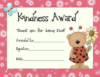 Kindness Award Set